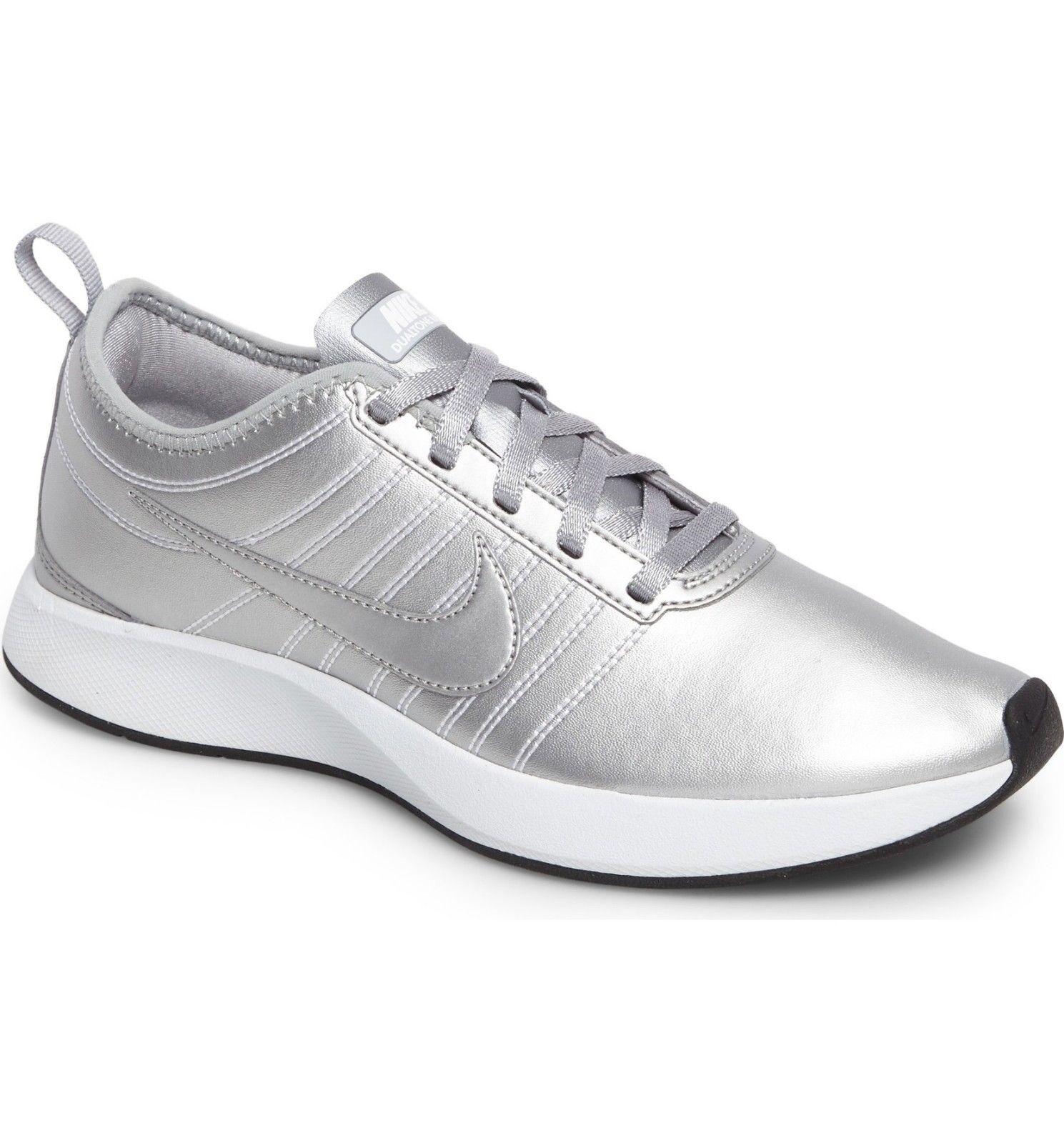 Women Athletic Sneakers Nike Running shoes Dualtone Racer PRM Silver AH3012001