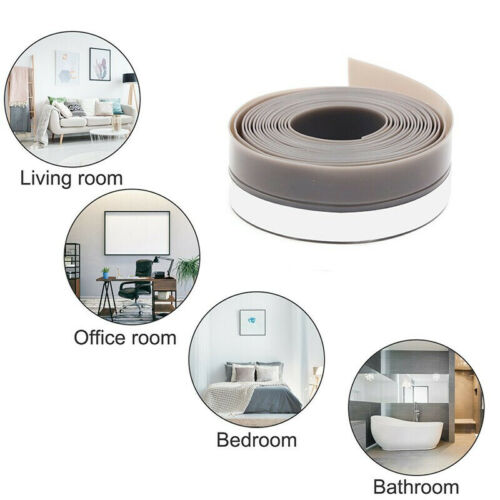 5m Door Sealing Strip Tape  Bottom Self Adhesive Weather Stripping Soundproof