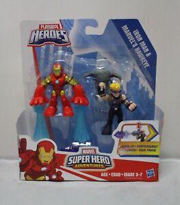 Playskool Heroes Marvel Super Hero Adventures Iron Man and Marvel's Hawkeye