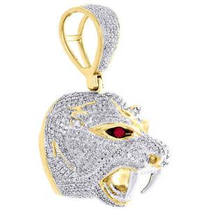10K-Yellow-Gold-Round-Diamond-3D-Panther-Head-Mount-Pendant-1-75-034-Charm-2-35-CT