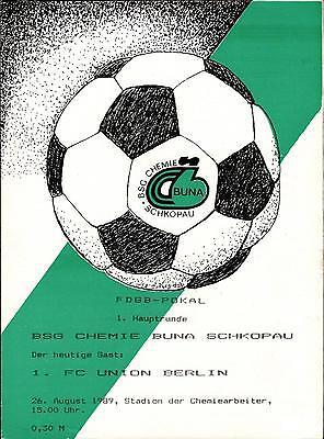 Union Mühlhausen Programm 1989//00 BSG Chemie Buna Schkopau