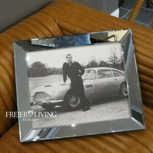 James-Bond-007-Sean-Connery-Wandbild-Spiegelrahmen-Foto-Druck-Goldfinger-DB5-neu