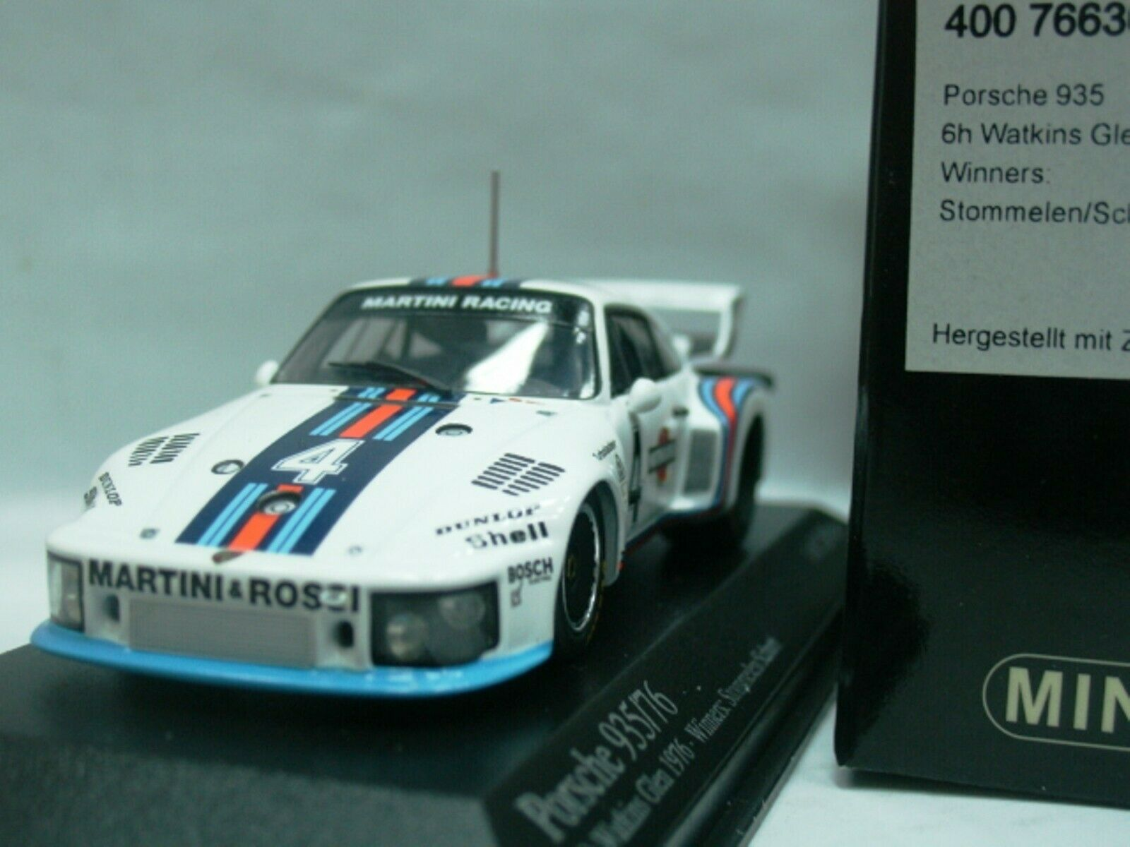 WOW EXTREMELY RARE Porsche 935 1976 Martini Winner Glen 1 43 Minichamps-Spark