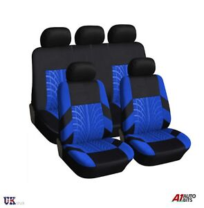 Front Leatherette seat covers fit Peugeot 206 1+1 black//blue