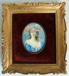 1900-French-Artist-Elizabeth-Louise-Vigee-le-Bru-Hand-Painted-Miniature-Painting