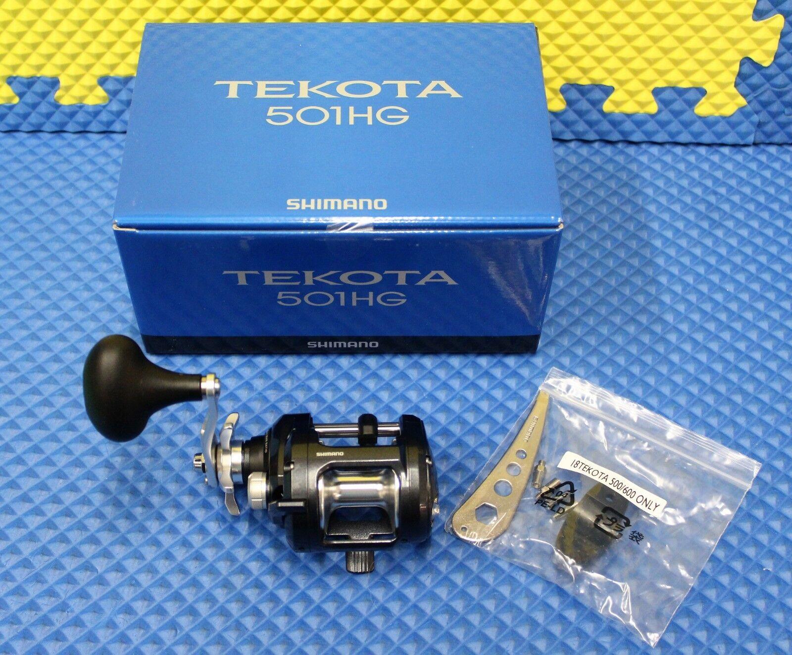 Shimano Tekota Left Handed Levelwind Trolling Reel NEW FOR 2019   TEK501HGA  authentic