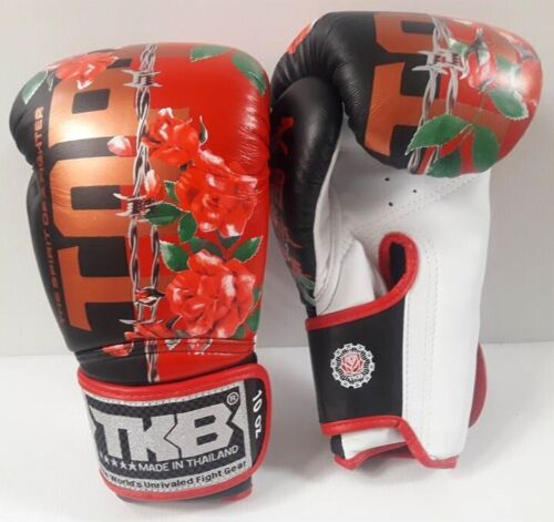 TOP KING BOXING GLOVES FANCY NEW COLLECTION RED  8,10,12,14,16 oz.MUAY THAI MMA