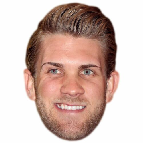 Bryce Harper Celebrity Mask Card Face and Fancy Dress Mask