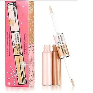 Benefit Double Up and Glow High Bean and Sun Beam Liquid Highlighters New in Box