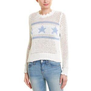 Wildfox-Brinne-Starshine-Sweater-Size-XS-NWT-Star-Print-Knit-Sweater-185
