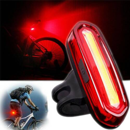 5LED USB MTB Road Bike Tail Light Rechargeable Bicycle Warning Rear Light Lamp