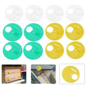 12pc-Plastic-Bee-Nest-Door-Entrance-Disc-Bee-Hive-Nuc-Box-Entrance-Gate-Tool