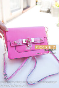 SALE-BNWT-RRP-179-GUESS-CYNTHIA-Crossbody-Messenger-Shoulder-Bag-Pink-Passion