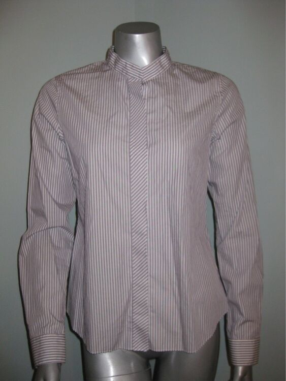 THEORY Weiß Striped Button Down Shirt w  Long Sleeves sz S NWT