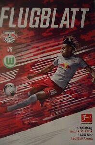 VfL Wolfsburg Programm Bundesliga 2019//20 RB Leipzig
