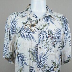 08705b63 Island Shores Men's Hawaiian Shirt XL Tropical Hibiscus Pineapples ...