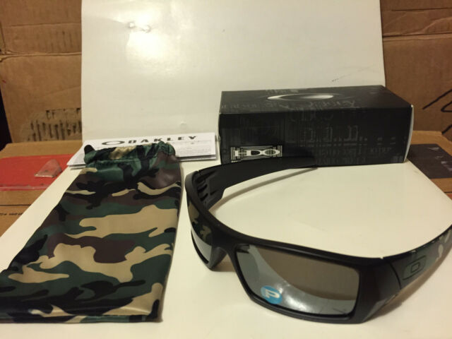 2015 Oakley Gascan Sunglasses Matte Black Camo Polarized Lenses ... 0808abebeb