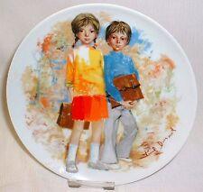Bradex Sammelteller LIMOGES Les Enfants de Durand Nr. 2 (Teller ist geklebt)