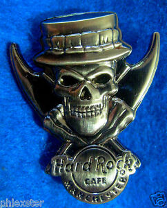 MANCHESTER ROYAL YEOMAN GUARD BEEFEATER SILVER SKULL SERIES Hard Rock Cafe PIN