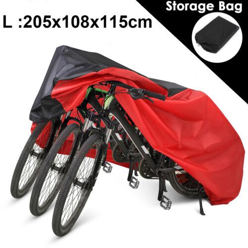 """80/"""" Fahrradgarage Rollerabdeckung Wasserdicht Moped Schutzhaube Abdeckplane Rot"""