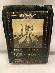 BAD COMPANY Burnin Sky 8-Track Tape
