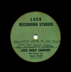 FLORENCE-FOSTER-JENKINS-Rare-12-inch-LOCK-Lacquer-Aria-Queen-of-the-Night