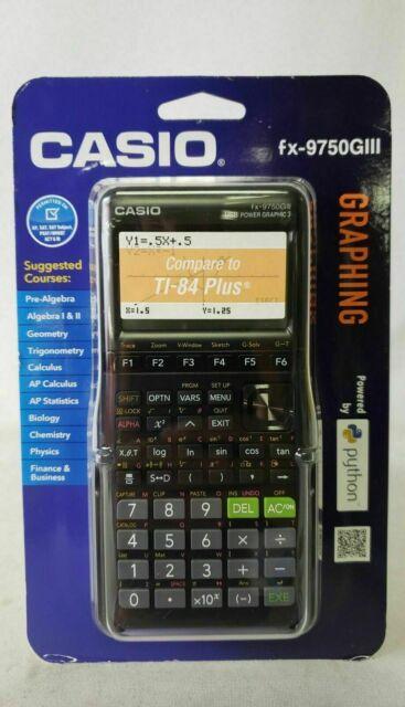 Casio FX-9750GIII Graphing Calculator Black - New!