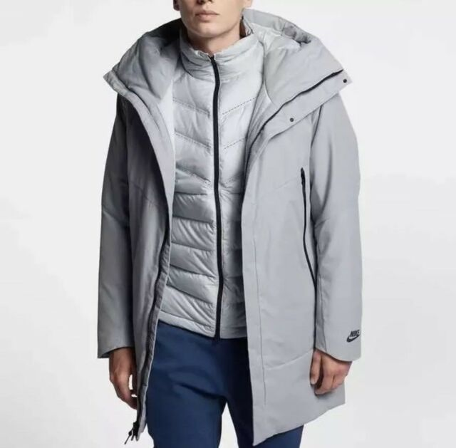 849e96003e90 Nike Men s Down Fill Aeroloft 2in1Vest and Jacket Size 2XL 863730 012 Wolf  Grey