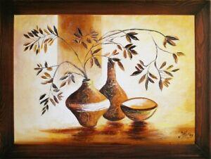 Gemaelde-Olgemaelde-Bild-Abstrakt-Vase-Bilder-Olbilder-Echte-Handarbeit-G06189