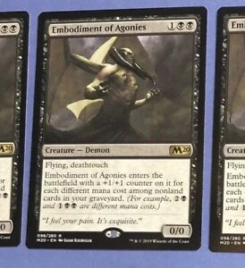 Details about X1 Embodiment of Agonies - M20 Core Set 2020 Magic The  Gathering MtG