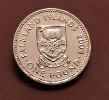 VERY RARE 2004 FALKLAND ISLANDS £1 ONE POUND COIN HUNT BUNC DESIRE THE RIGHT
