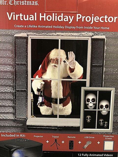 Mr Christmas Virtual Holiday Projector Animated Halloween Christmas Display | eBay