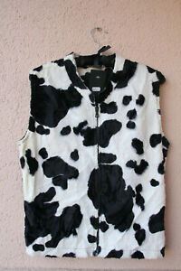karneval Wichtig 5 Gr 90s Mode Von M Veste Cow party kuh Zip Tierimitat 6qPTI04
