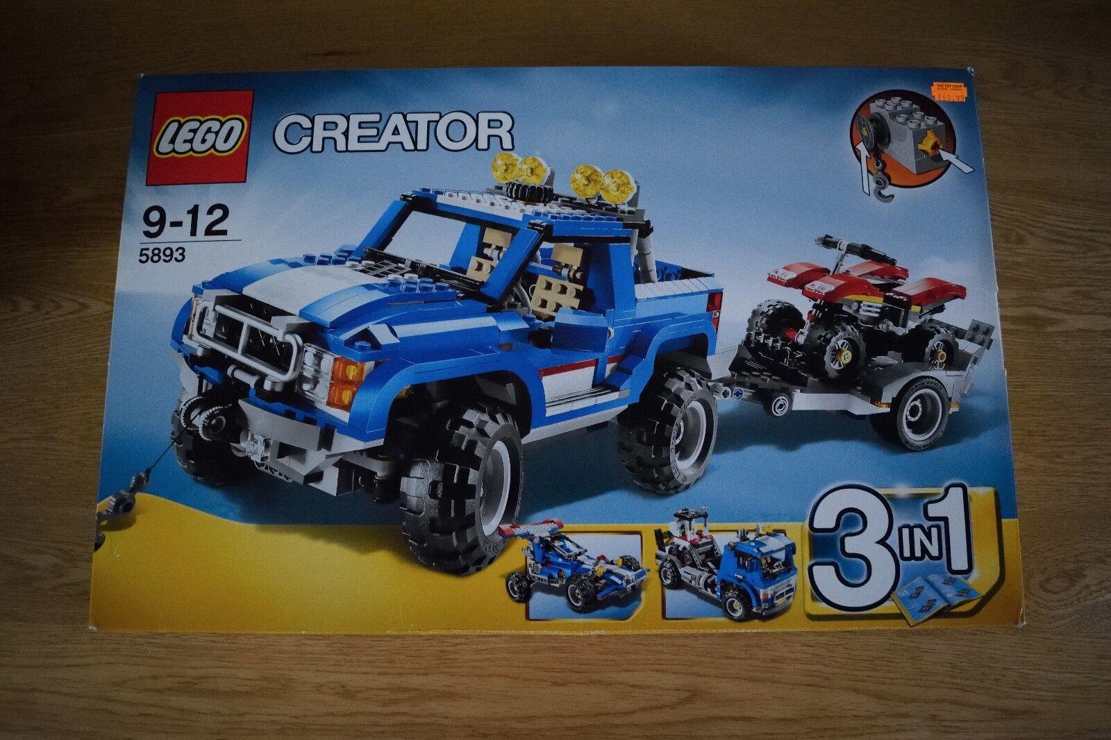 LEGO Creator Bleu Camion   3 en 1   Set 5893 - 100% complet
