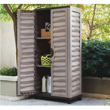 Outdoor Storage Cabinet Large Plastic Shed Feet X Feet Garden - Large plastic storage cabinets