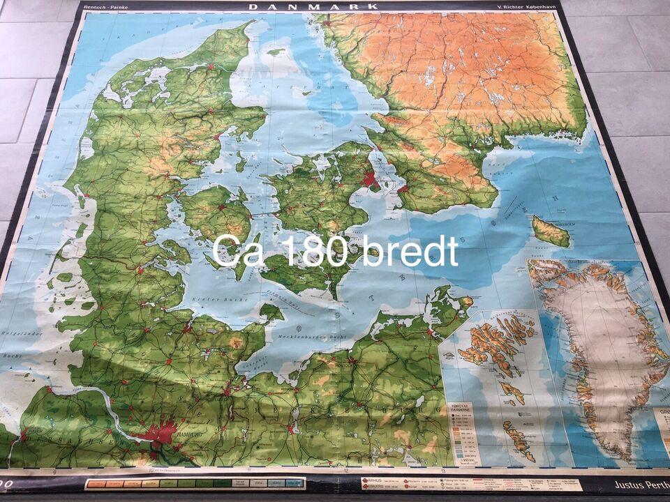 Landkort, Skolekort / landkort. Flere haves.