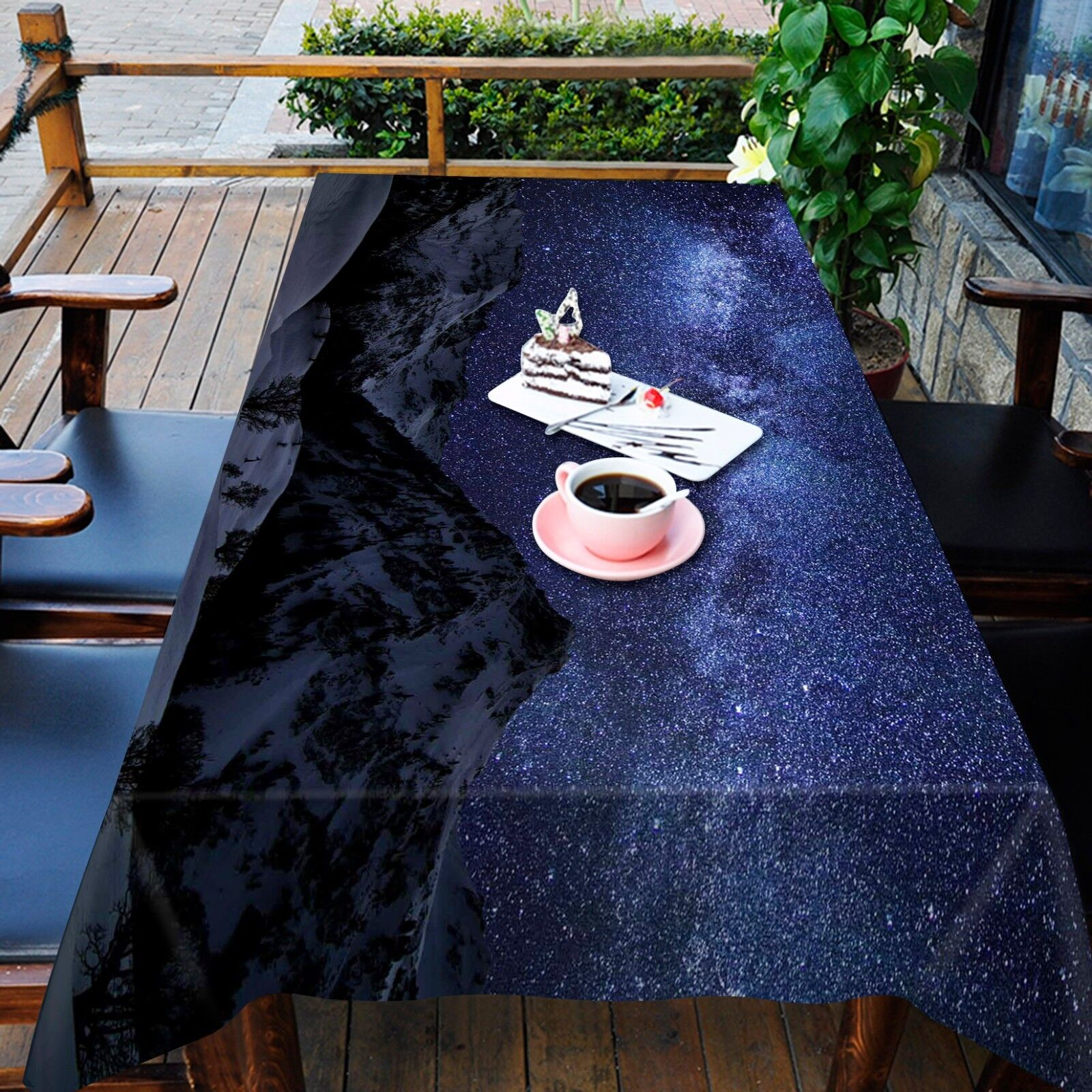 3D Night Sky Nappe Table Cover Cloth fête d'anniversaire AJ papier peint Royaume-Uni Citron