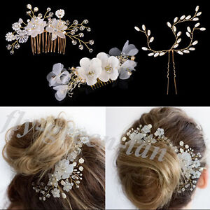 Chic-Crystal-Rhinestone-Pearl-Hairpin-Flower-Hair-Clip-Comb-Wedding-Jewelry-Gift