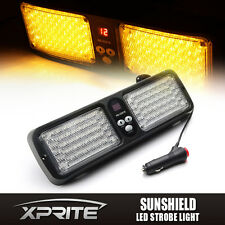 86 LED SunShield Amber Emergency Hazard Windshield Visor Strobe Light Flash