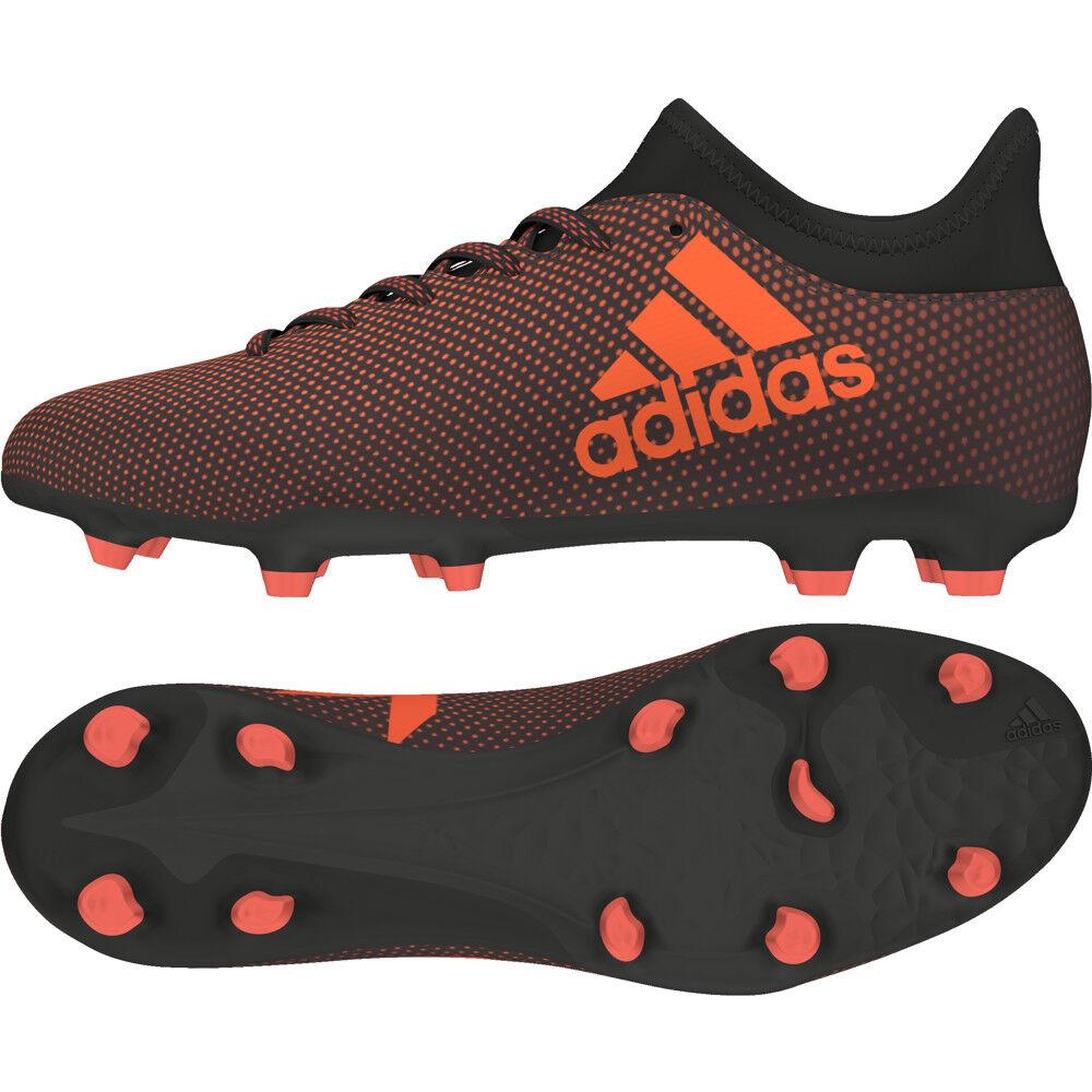 Adidas X 17.3 FG Junior Kinder Fußballschuh S82368 schwarz-rot-Orange