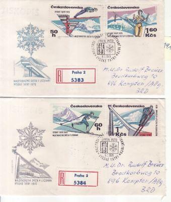 Tschechien & Tschechoslowakei 1916-19 Fdc Skisport Vysoke Tatry Sanft Cssr Tschechoslowakei Nr Europa