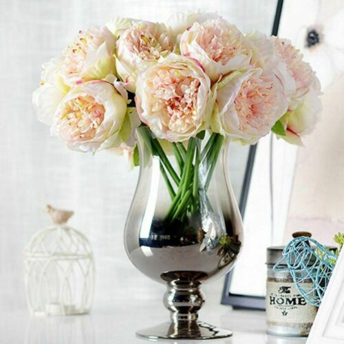 Artificial Silk Peonies Flowers Bouquet For Wedding And Home Decorations Wreaths