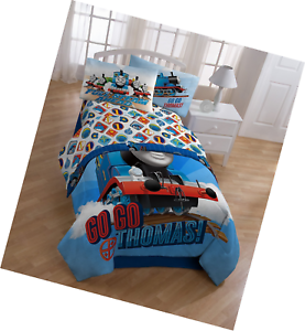 Thomas The Train Flat Fitted Sheets Pillowcase Set Bedding Twin for Boys Kid