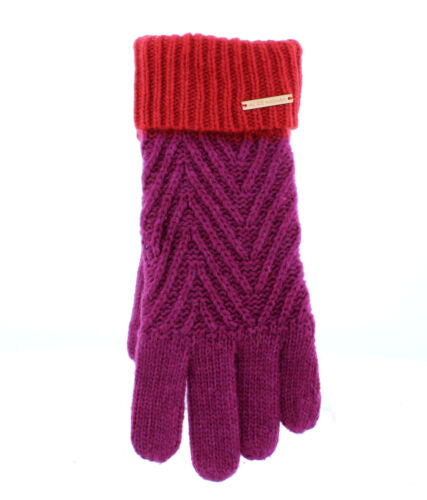 Alice Hannah Alesha Colour Block Knitted Gloves