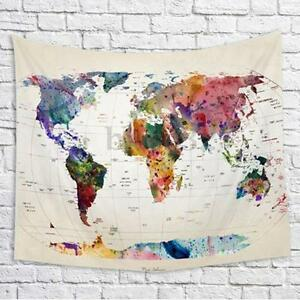 Vintage world map mandala wall hanging tapestry bedspread dorm image is loading vintage world map mandala wall hanging tapestry bedspread gumiabroncs Gallery