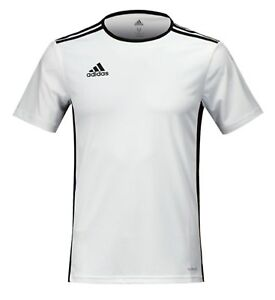 Details about Adidas Men ENTRADA 18 SS T Shirts Climalite White Football Tee Jersey CD8438