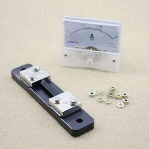 30A 75mV Shunt Resistor DC 0-30A Analog Amp Meter Ammeter Current Panel