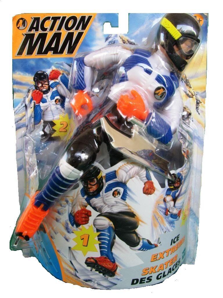 Action Action Action Man – Extreme Ice Skater Hasbro 1999 Rare 86e083