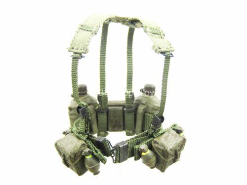 US Infantry Vietnam OD Green Harness w//Pouch Set 1//12 scale toy