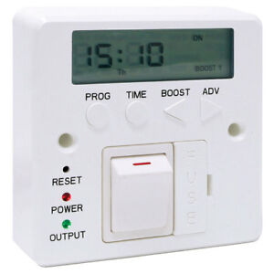 7-Day-3kW-Fused-Timer-Spur-Switch-Digital-LED-Lighting-Storage-Immersion-Heater